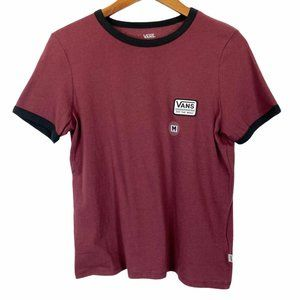 NWT Vans Women's Patched Off The Wall Tee Med